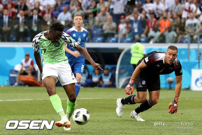 나이지리아, 아이슬란드 2-0 꺾고 2위... 아르헨 D조 4위 추락