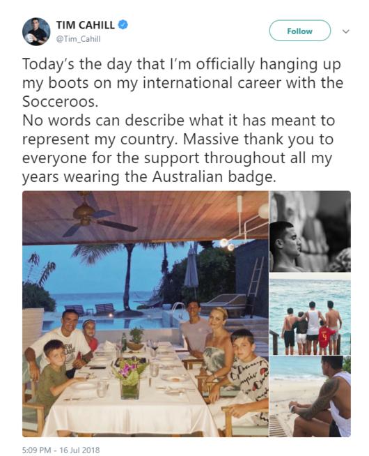 사커루의 상징 케이힐, 호주 대표팀 은퇴 선언