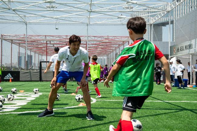 구자철, 160여 명 학생과 마이드림 FC 축구 클리닉 진행