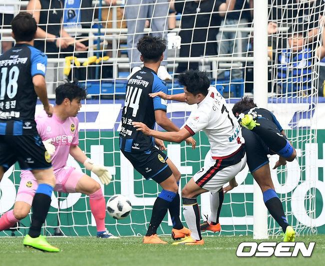 [사진]이상호,경기 시작 5분 만에 선제골