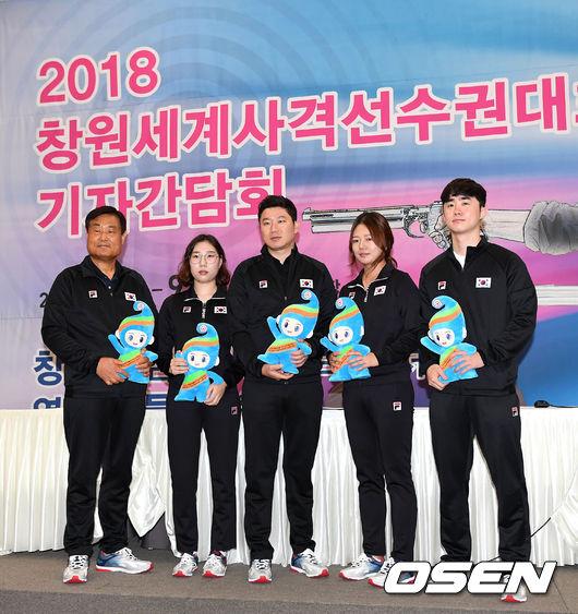[사진]사격대표팀,아시안게임-창원세게사격선수권대회 선전 다짐