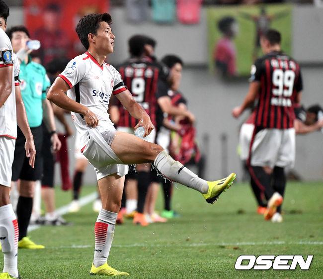 [사진]류승우, 뜨거워진 허벅지를 식히자