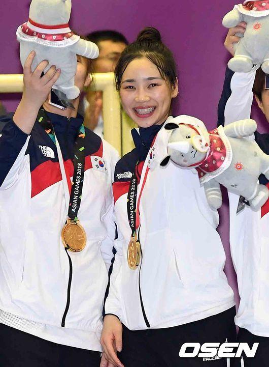 [사진]정유라,AG 금메달 행복해요
