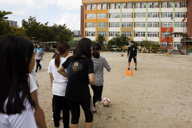 대구, 지역학교 방문해 축구 클리닉 진행
