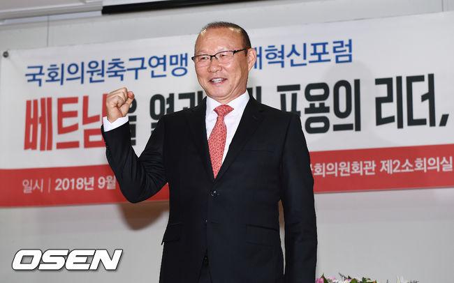 [사진]박항서 감독,국회 강의 위해 왔어요