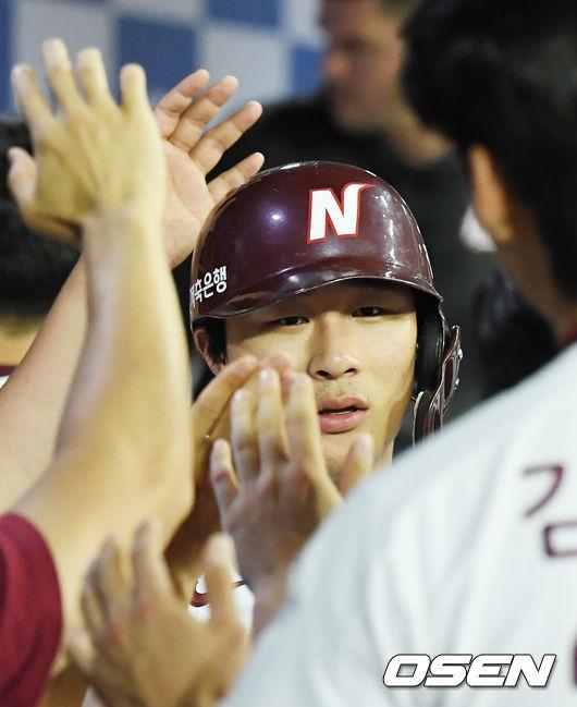 [사진]김하성,좋아! 역전 득점