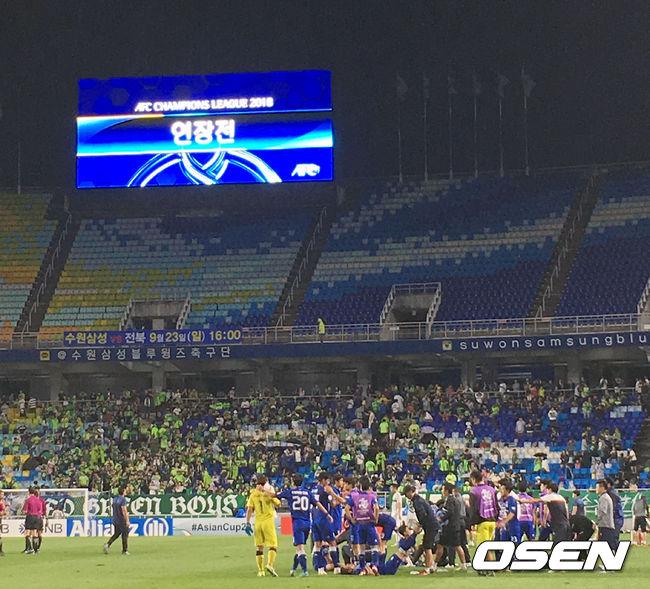 [사진]수원-전북 ACL 8강전 연장 돌입