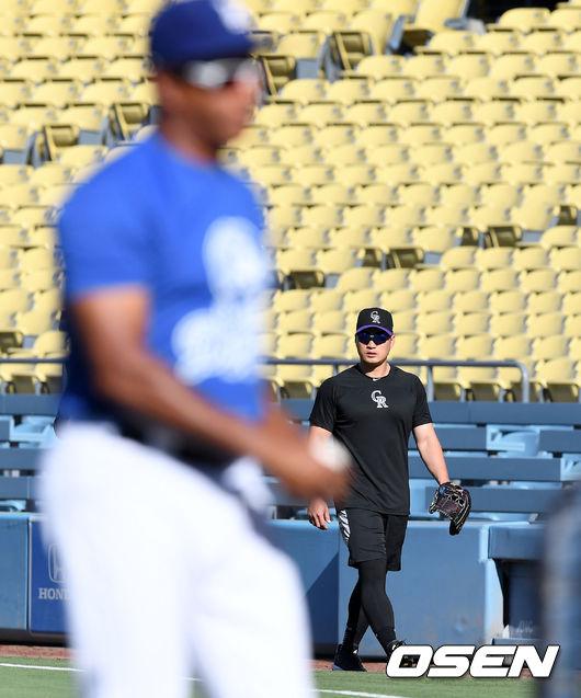 [사진]오승환, 오늘은 다저스와 맞붙나