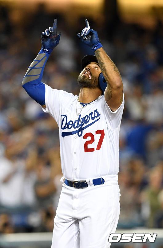 맷 켐프 시즌 20호 솔로포 작렬...다저스 7人 20홈런