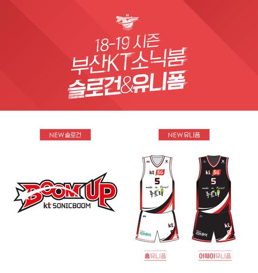 KT, 2018-2019시즌 슬로건 'BOOM UP' & 새 유니폼 공개