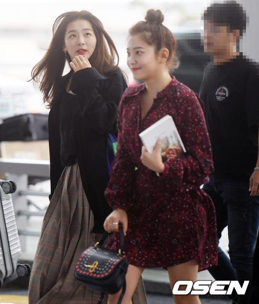 [사진]레드벨벳 슬기,바람이 신경 쓰여