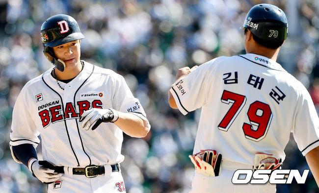 [사진]김재환, 첫 타석부터 좋은 타격감 그대로