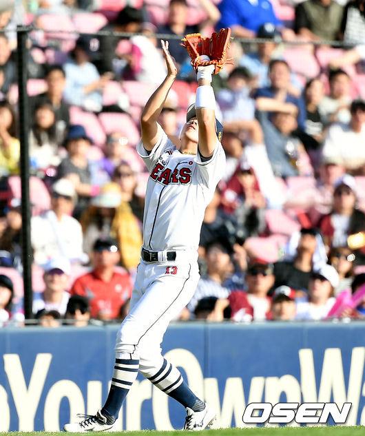 [사진]허경민, 낮 경기 까다로운 타구도 문제없어