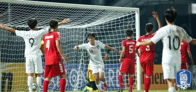 한국 U-16대표팀, 아프가니스탄 7-0 대파... 2연승