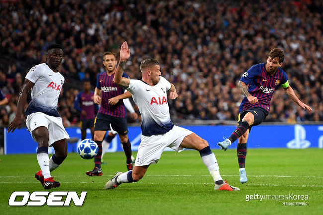 토트넘 추격에 진땀 뺀 바르셀로나, 축구신 메시 왼발 덕에 살았다