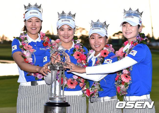 최강 한국 여자 골프, 국가대항전도 우승...UL인터내셔널 크라운