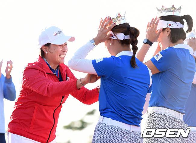 [사진]박세리,후배들아 자랑스럽다