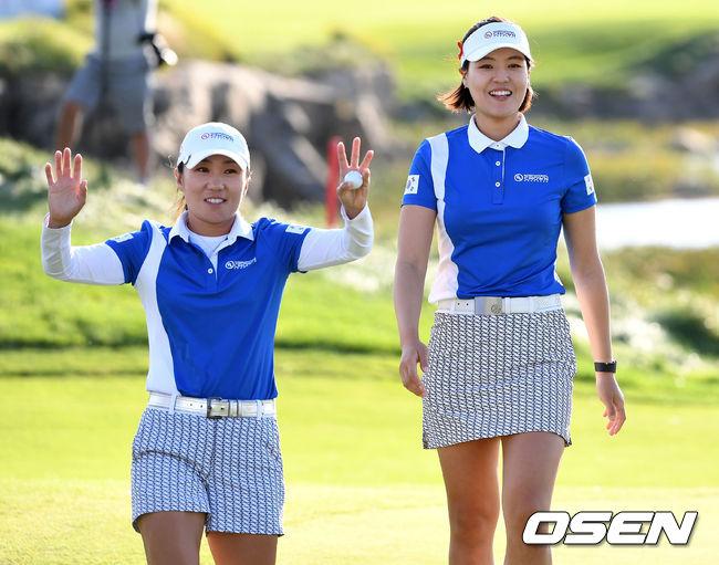 [사진]김인경-전인지,LPGA대회 안방서 우승 차지 했어요