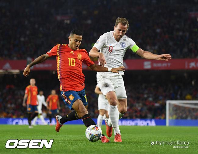 케인 2도움 잉글랜드, 스페인 3-2 격파