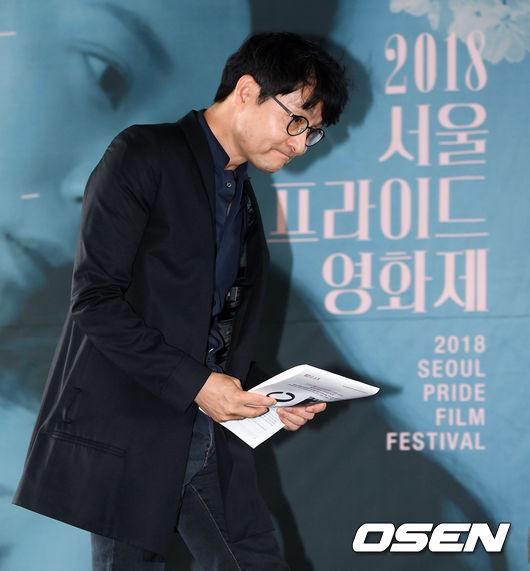 [사진]서울프라이드영화제 집행위원장 김조광수,조심스러운 입장