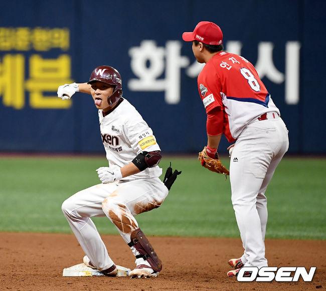 [사진]김하성,과감한 주루 플레이로 2루까지