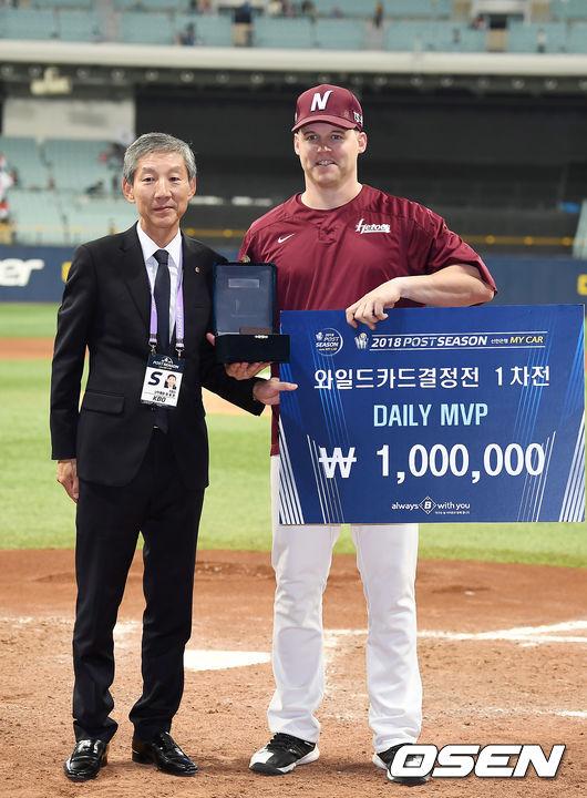 [사진]와일드카드결정전 1차전 MVP 선정된 샌즈