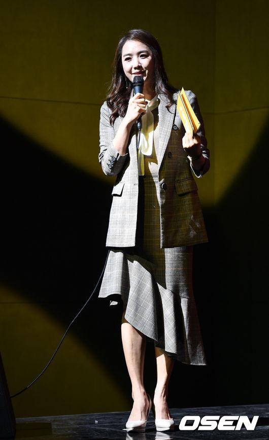 [사진]이지애 아나,소야 쇼케이스 사회를 맡았어요