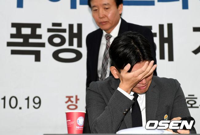 [사진]더이스트라이트 이석철, 눈물로 증언하는 폭행 피해