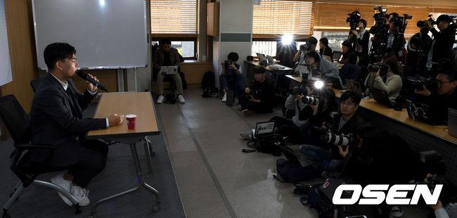 [사진]프로듀서로부터 폭행 더이스트라이트 긴급 기자회견