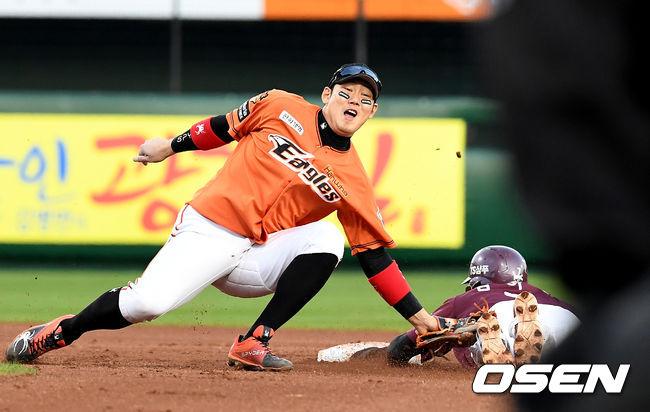 [사진]하주석, 김하성, 태그가 빨랐어