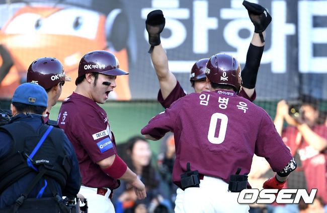 [준PO2] 임병욱 연타석 3점포 넥센, 한화에 이틀 연속 승리