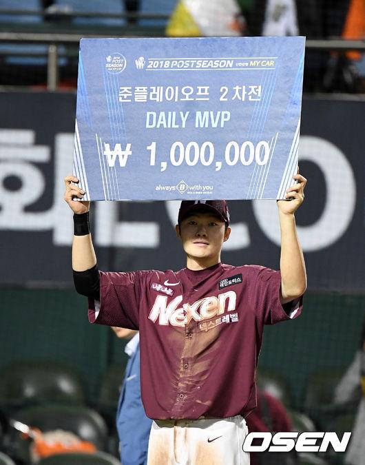 [준PO2] 멀티포·6타점 MVP 임병욱, 승리 좋지만, 정후 걱정되네요