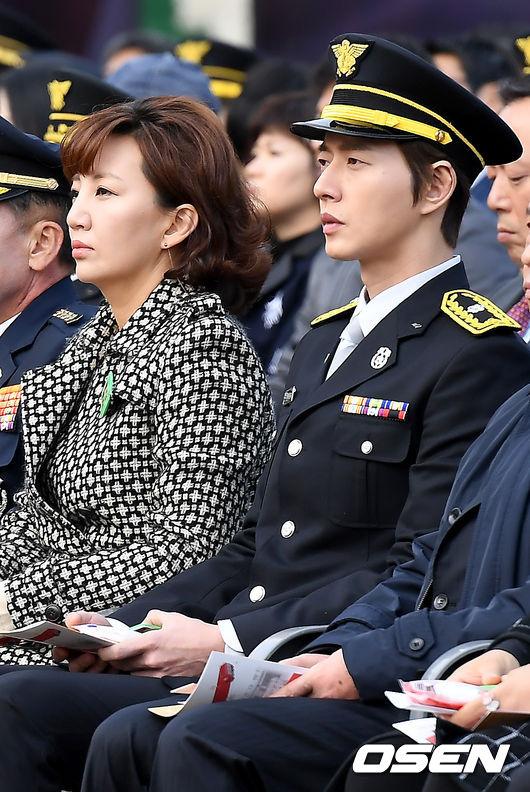 [사진]설수진-박해진,제56주년 소방의 날 행사 참석
