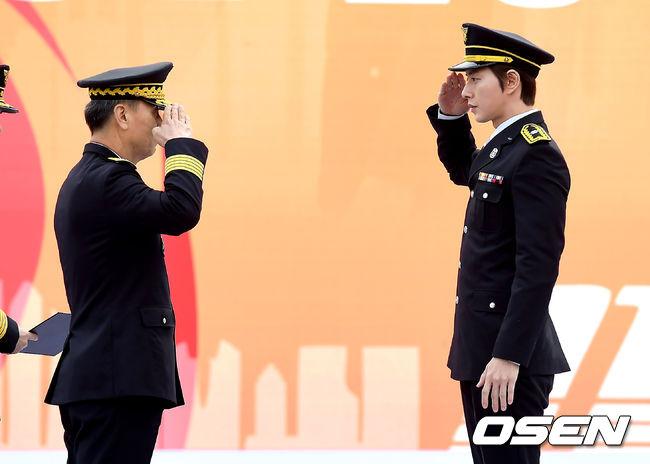 [사진]박해진,명예 소방관 임명