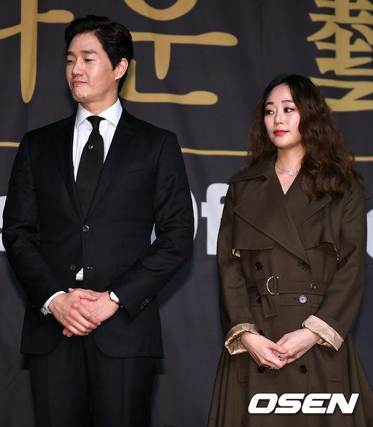 [사진]유지태-김효진 부부, 영광스러운 순간