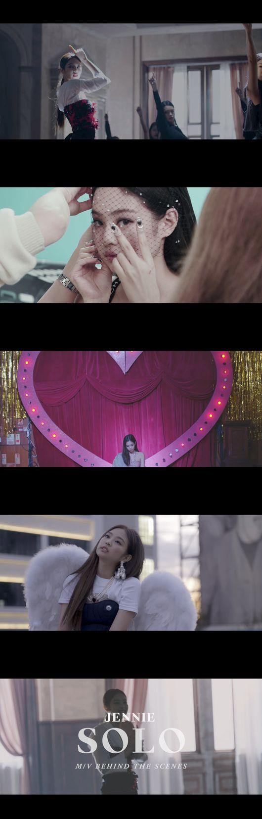 제니, 'SOLO MV 메이킹 공개 블랙핑크에서 보지 못했던 다른 자아