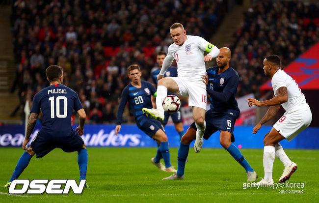 루니 대표 은퇴 경기 잉글랜드, 미국에 3-0 완승