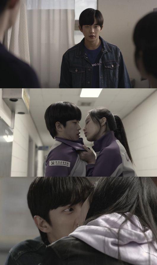 닿을 듯 말 듯 김민석, 거친 박력 키스 1초 전 심쿵[Oh!쎈 컷]