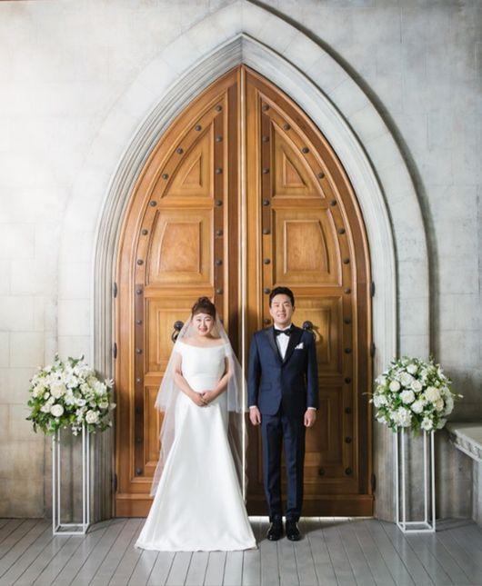 홍윤화♥김민기, 오늘(17일) 9년 열애 끝 결혼..개그맨 부부 탄생[종합]