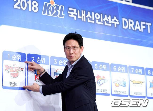 [사진]2018 KBL 국내신인 드래프트 1순위는 kt