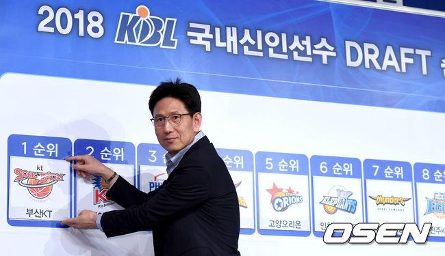 [사진]kt 서동철 감독, 2018 국내신인드래프트 1순위