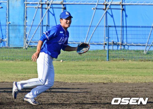 [캠프 리포트] 예비역 박계범, 이제 야구만 잘하면 된다