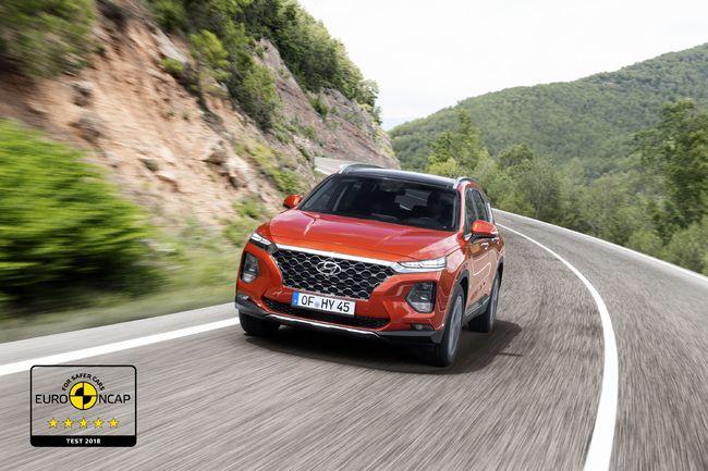 현대차 싼타페,유럽 신차 안전성 평가에서 별 다섯개 최고 등급