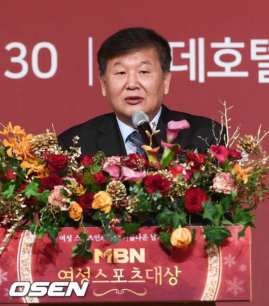 """[사진]노태강 문체부 차관 """"여성스포츠대상 수상자들 축하드려요"""""""