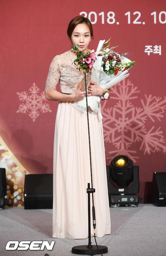 [사진]수영스타 김서영,여성스포츠대상 우수상