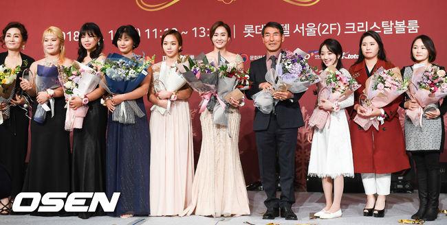 [사진]2018년 빛낸 여성스포츠대상 수상자들