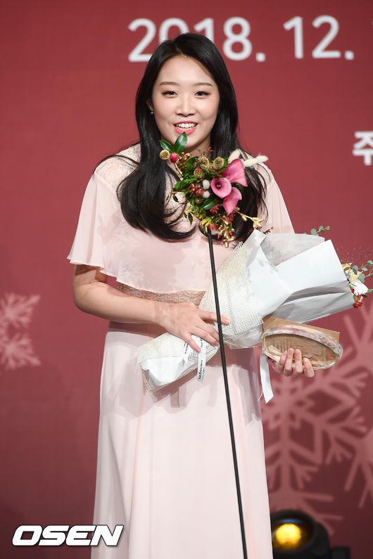 [사진]임하나,여성스포츠대상 최우수상 수상