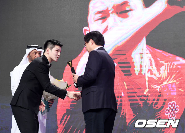 [사진]중국 판젠동, ITTF 스타어워즈 남자스타상