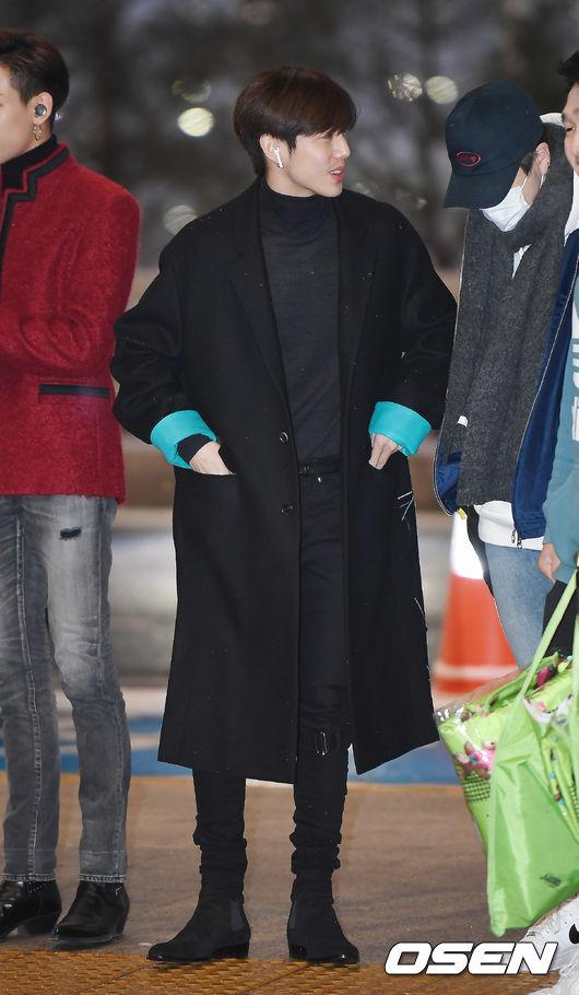 [사진]갓세븐 마크,올 블랙 패션