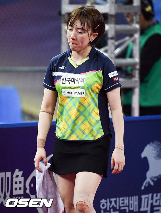 [사진]16강 탈락 서효원의 아쉬운 표정